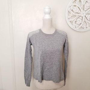 Autumn cashmere size XS studded cashmere sweater